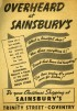 """SA/BR/22/C/44/2/3 - """"Overheard at Sainsbury's"""" newspaper advertisement for Coventry (23 Trinity Street) branch, 1938"""