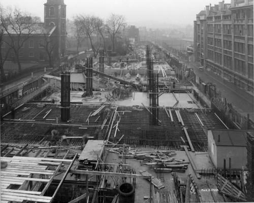 SA/BL/1/16/10 - Photograph of construction of Sainsbury's factory at Paris Gardens, Blackfriars, London (exterior), 3 Mar 1933
