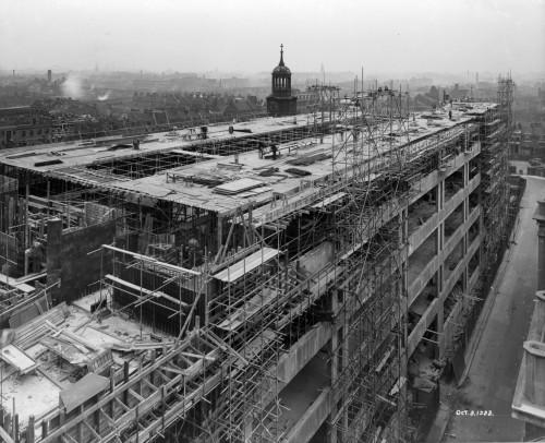 SA/BL/1/16/4 - Photograph of construction of Sainsbury's factory at Paris Gardens, Blackfriars, London (exterior), 3 Oct 1933