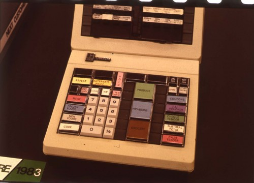 SA/BL/IMA/15/3 - Slide photograph of electronic cash register 1983