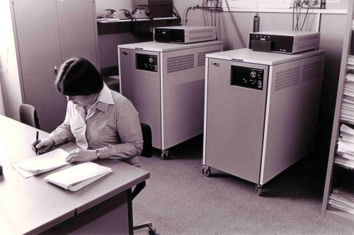 SA/BL/IMA/15/6 - Photograph of branch office during scanning trials, 1979