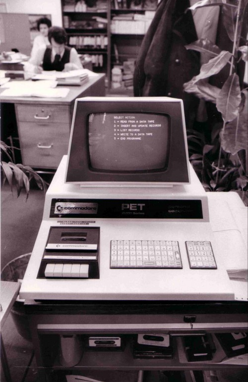 SA/BL/IMA/15/9 - Photograph of Commodore PET computer in an office