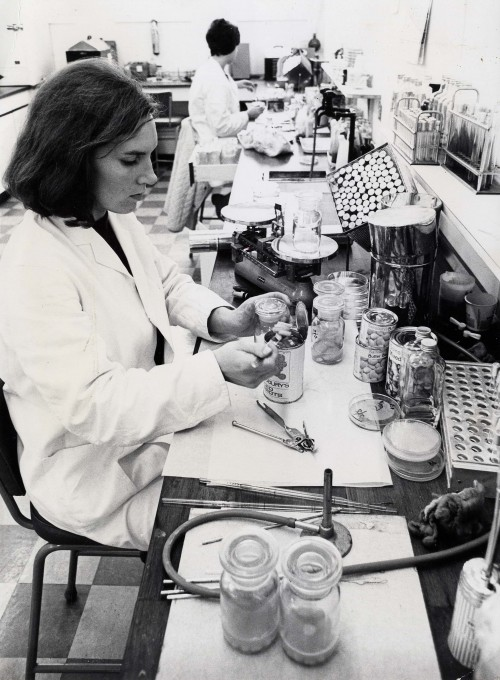 SA/BL/IMA/16/5 - Photograph of microbiology test taking place in a Sainsbury's laboratory