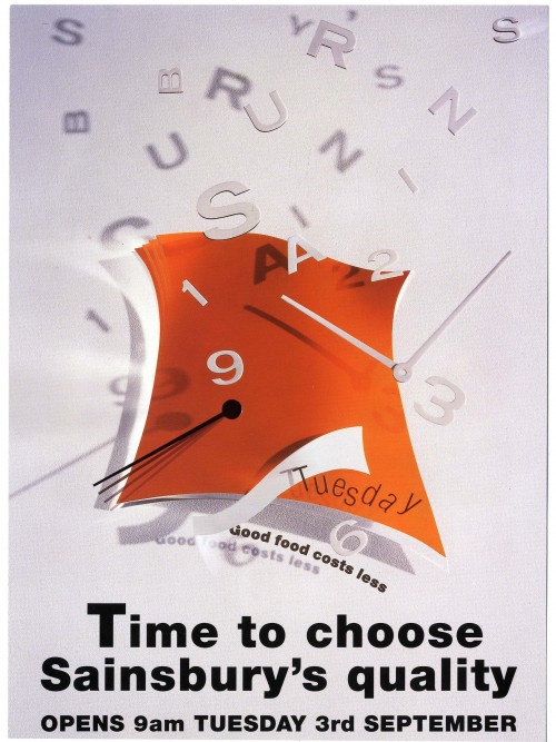 """SA/BR/22/A/3/2/1 - """"Time to choose Sainsbury's quality"""" Alperton (360 Ealing Road) store opening leaflet"""