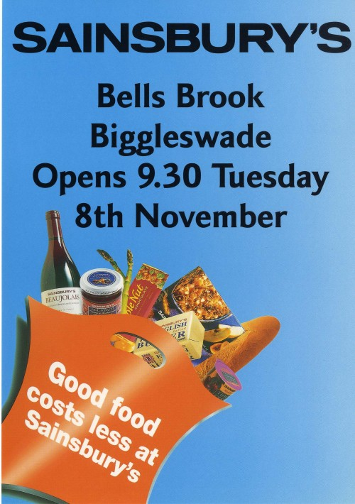 SA/BR/22/B/23/2/1 - Biggleswade (Bells Brook) store opening flyer 1994