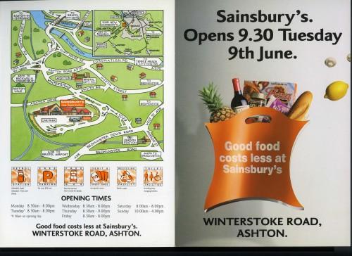 SA/BR/22/B/52/2/1 - Bristol Winterstoke Road store opening leaflet