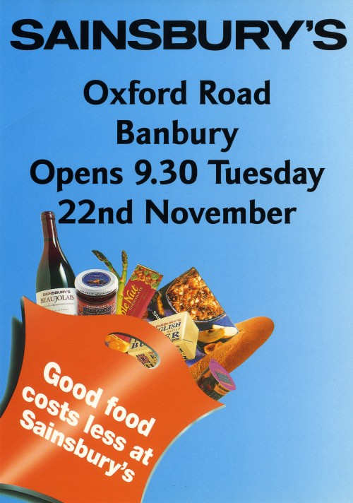 SA/BR/22/B/64/2/2 - Banbury (Oxford Road) store opening leaflet