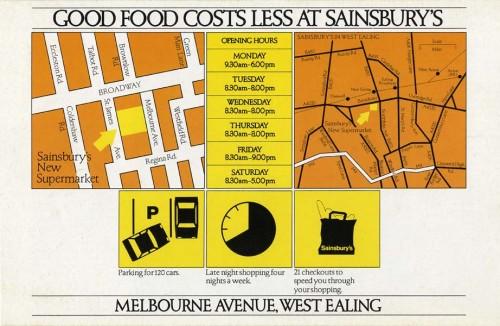 SA/BR/22/E/1/2/1 - West Ealing [2/14 Melbourne Avenue] store opening leaflet