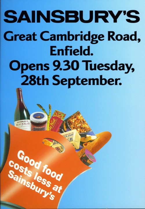 SA/BR/22/E/16/2/1 - Great Cambridge Road/3 Crown Road, Enfield store opening leaflet