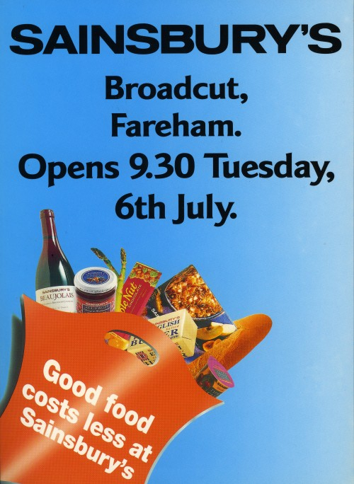 SA/BR/22/F/2/2/1 - Fareham: Broadcut store opening leaflet