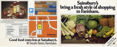 SA/BR/22/F/4/2/1 - Farnham (16 South Street) store opening leaflet, 1983