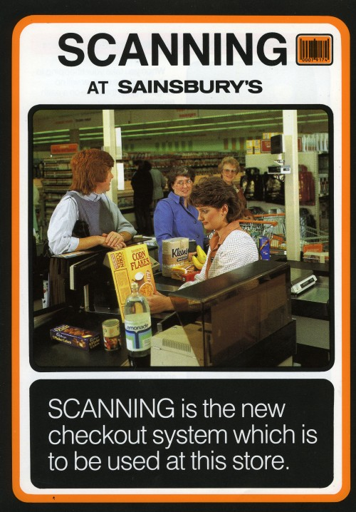 "SA/BR/22/H/28/2/1 - ""Scanning at Sainsbury's"" leaflet, c. 1988"