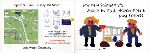 SA/BR/22/L/26/2/1 - Longwater, Costessey (Norwich) store opening leaflet