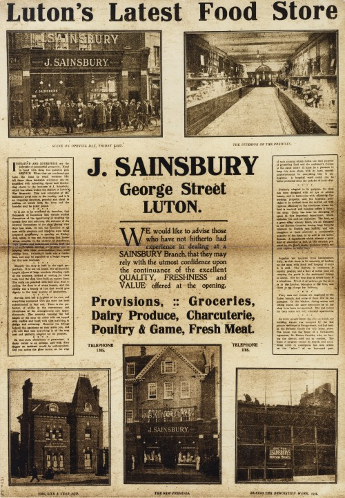 SA/BR/22/L/30/2/1 - Luton (74 George Street) store opening advertisement, 1926