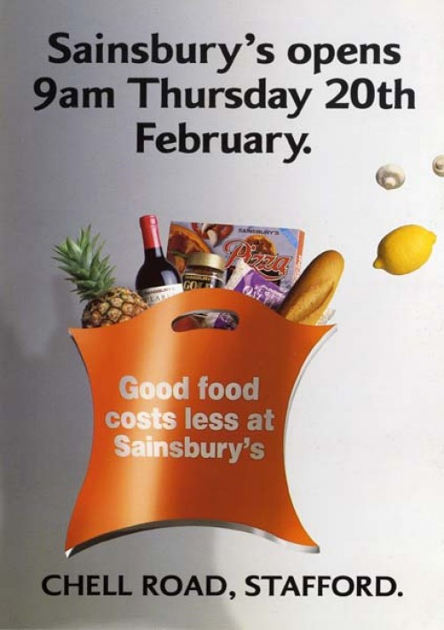 SA/BR/22/S/26/2/1 - Stafford (Chell Road) store opening flyer, 1992