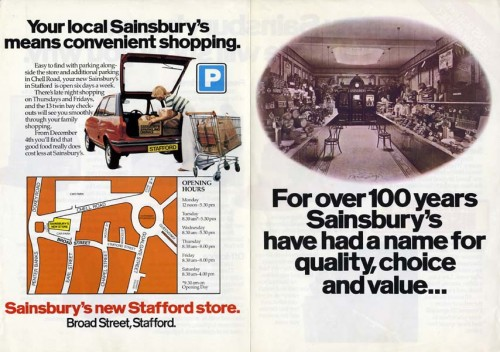 SA/BR/22/S/26/2/2 - Stafford (Broad Street) store opening leaflet, 1979