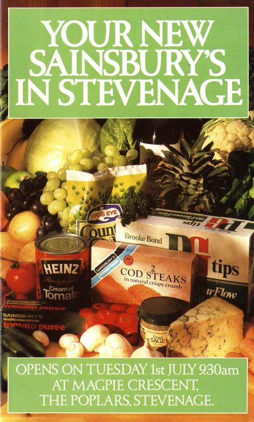 SA/BR/22/S/30/2/1 - The Poplars, Stevenage store opening brochure, 1986