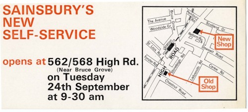 SA/BR/22/T/18/1 - Tottenham (562/568 High Road) store opening leaflet