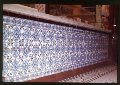 SA/BRA/1/8/1/1 - Photograph of Stratford [79 Angel Lane] store tiles in situ
