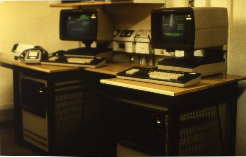 SA/BRA/4/3/5/1/2 - Slide photograph of branch computer terminals