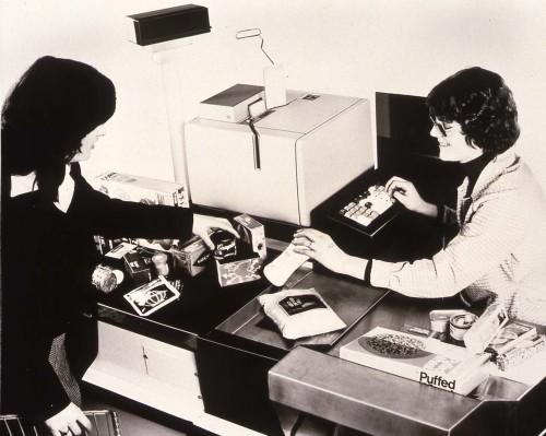 SA/BRA/4/3/5/1/8 - Slide photograph of computerised checkout 1979