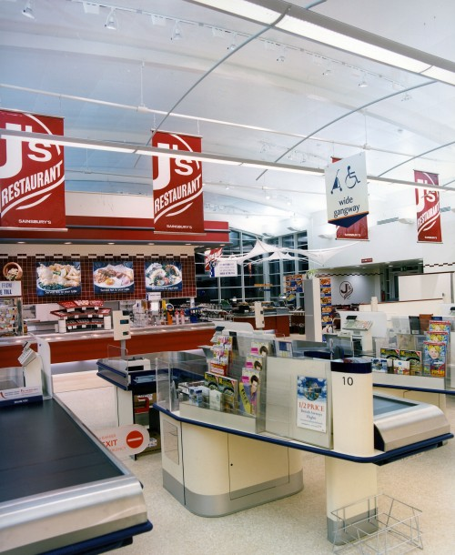 SA/BRA/5/6/3/1/2 - Photograph of J's Restaurant in a Sainsbury's supermarket