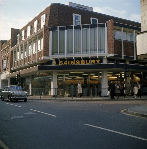 SA/BRA/7/A/11/2/3 - Photograph (transparency) of Ashford (56 High Street) store exterior, 1968