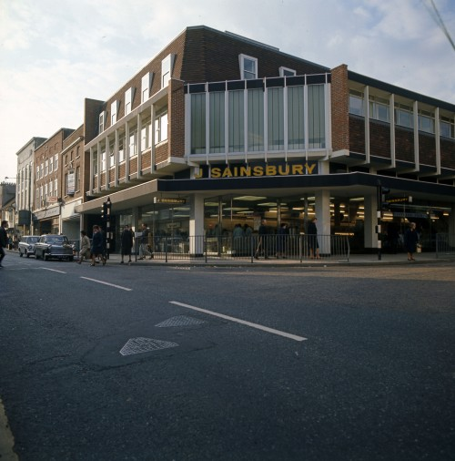SA/BRA/7/A/11/2/4 - Photograph (transparency) of 56 High Street, Ashford store, 1968 (exterior)