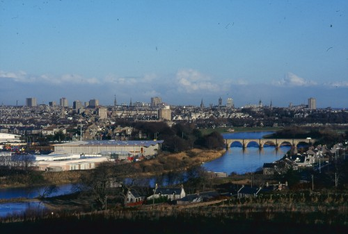 SA/BRA/7/A/1/45 - Image overlooking Garthdee Road, Aberdeen branch and the city of Aberdeen