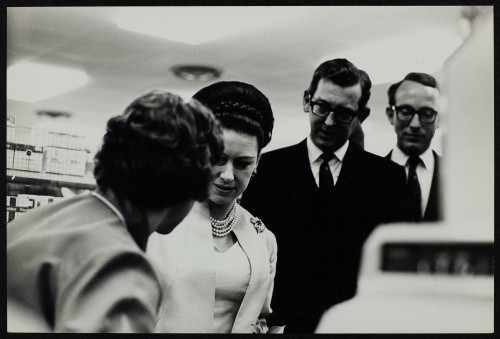 SA/BRA/7/B/1/3/33 - Image of Princess Margaret with JD Sainsbury and Simon Sainsbury visiting Balham High Road, Balham branch