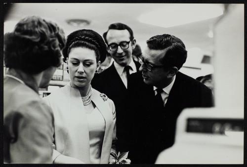 SA/BRA/7/B/1/3/43 - Image of Princess Margaret with JD Sainsbury and Simon Sainsbury visiting Balham High Road, Balham branch