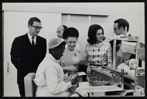 SA/BRA/7/B/1/3/8 - Image of Princess Margaret with JD Sainsbury visiting Balham High Road, Balham branch