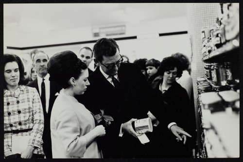 SA/BRA/7/B/1/3/9 - Image of Princess Margaret with JD Sainsbury visiting Balham High Road, Balham branch