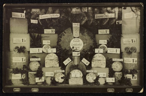 SA/BRA/7/B/31/1/5 - Image of Bournemouth (146/8 Old Christchurch Road): window display (cheese), Christmas 1930