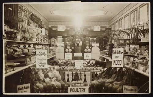 SA/BRA/7/B/31/3/3 - Image of interior of 639 Christchurch Road, Boscombe branch, Christmas display inside shop, 1925