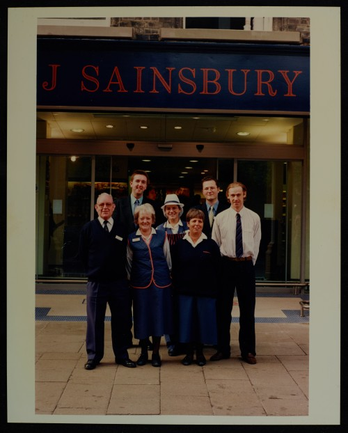 SA/BRA/7/C/4/2/142 - Image of Cambridge (44 Sidney Street): some of the branch staff outside the store