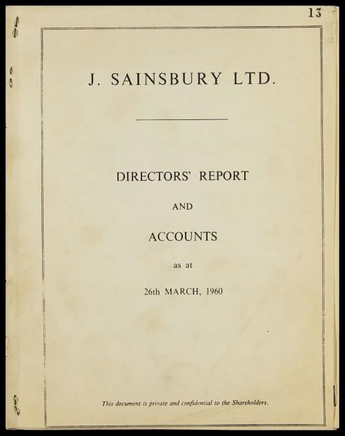 SA/CO/5/1/11 - Directors' report and accounts 1960