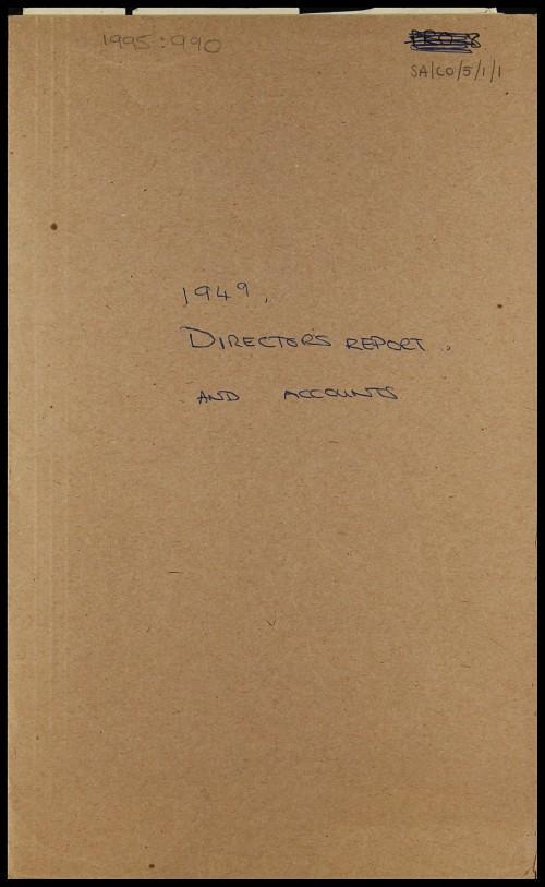 SA/CO/5/1/1 - Directors' report and accounts 1949