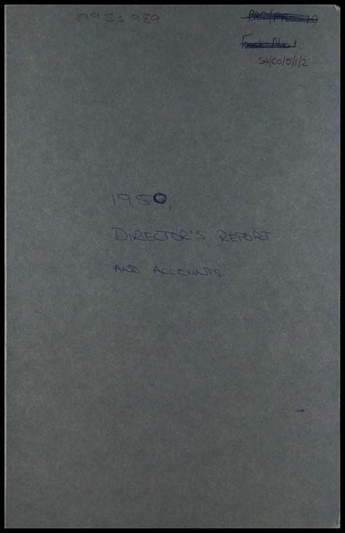 SA/CO/5/1/2 - Directors' report and accounts 1950