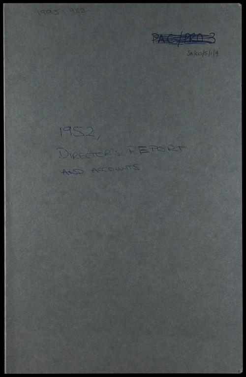 SA/CO/5/1/4 - Directors' report and accounts 1952