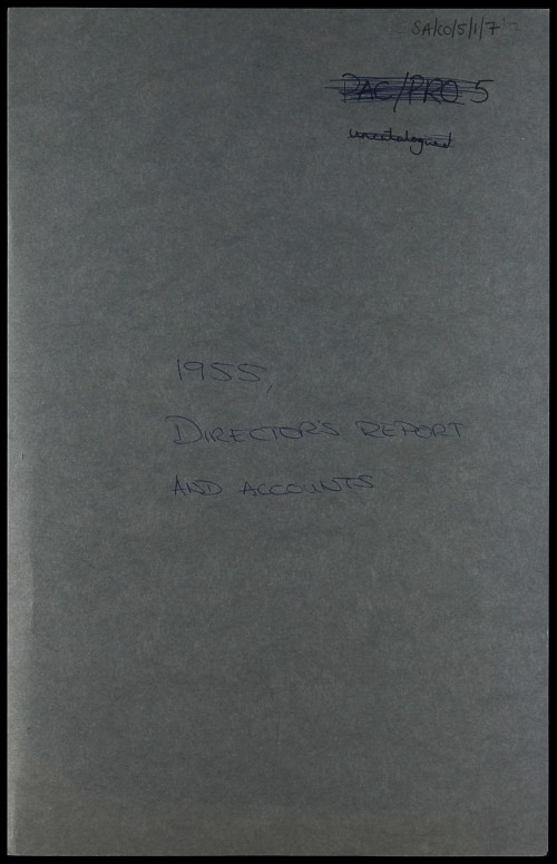 SA/CO/5/1/7 - Directors' report and accounts 1955