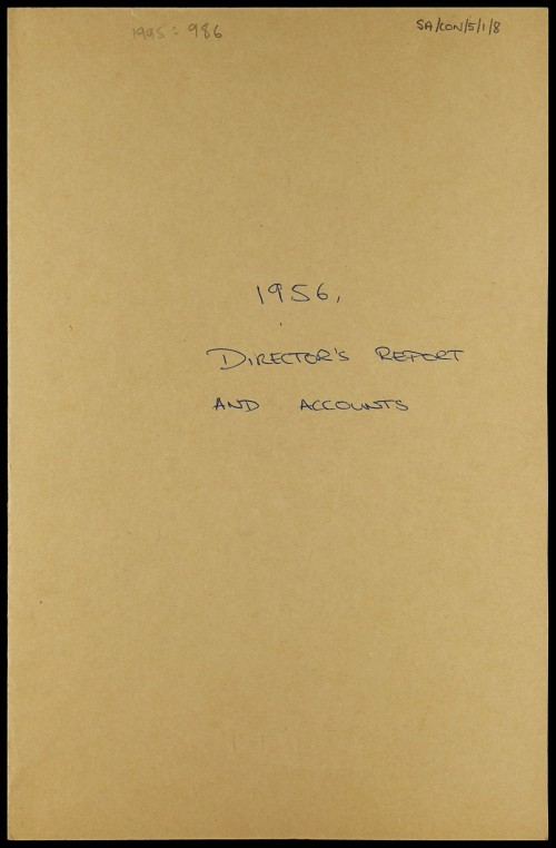 SA/CO/5/1/8 - Directors' report and accounts 1956