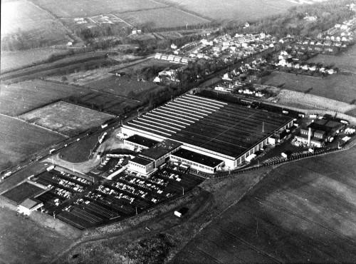 SA/DEP/3/9/2 - Buntingford Depot aerial photograph late 1960s