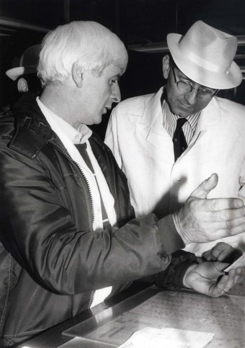 SA/DEP/4/6/27 - Photograph of Charlton Depot visit, 1986: two men