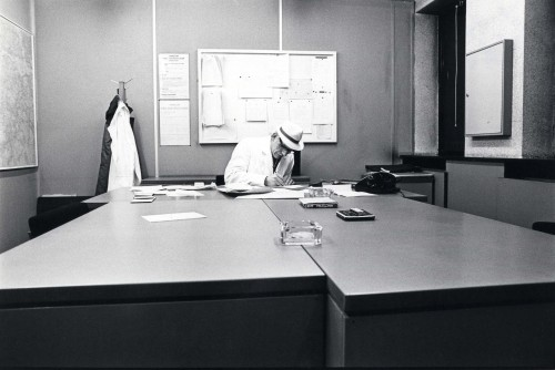 SA/DEP/4/6/52 - Photograph of Charlton Depot, 1977 - Night Manager Sam Goddard