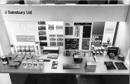 SA/DES/34/1 - Photograph of Sainsbury's Design Studio display at Design Council exhibition, 1974