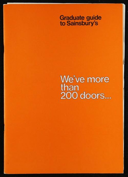 "SA/EMP/1/1/10/3 - ""Graduate guide to Sainsbury's: We've more than 200 doors..."" recruitment brochure"