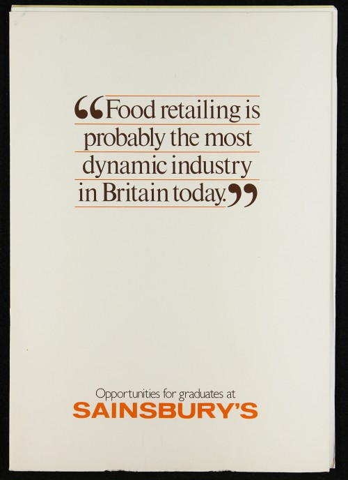 """SA/EMP/1/1/10/6 - """"Opportunities for graduates at Sainsbury's"""" brochure and enclosed papers"""