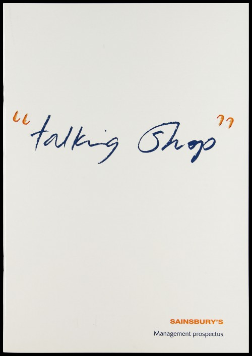 """SA/EMP/1/1/12/9 - """"Talking shop"""": Sainsbury's Management prospectus"""" booklet"""