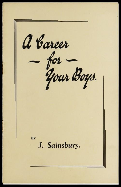 "SA/EMP/1/1/2/1 - ""A Career for Your Boys"" recruitment brochure"